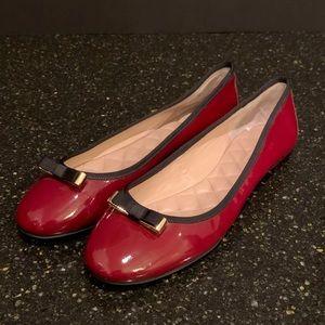 Stella Luna Wine Patent Leather Ballet Flats.